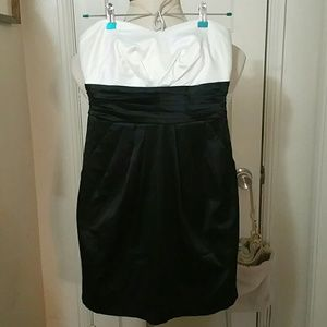 TRIXXI black white prom party dress NWT